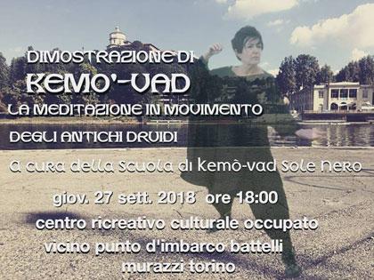 27 settembre 2018 ore 18 - Dimostrazione di Kemò-vad presso i Murazzi di Torino