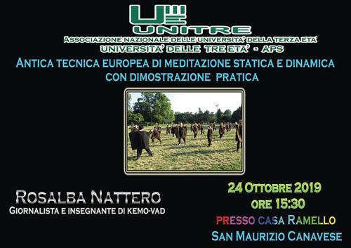 24 ottobre 2019 ore 15.30 -  Kemò-vad: conferenza e dimostrazione a San Maurizio Canavese