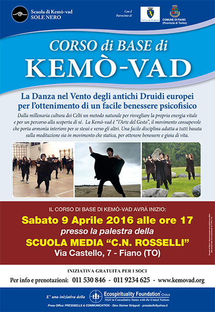 Corso di Base di Kemò-vad a Fiano (TO) dal 9 aprile 2016