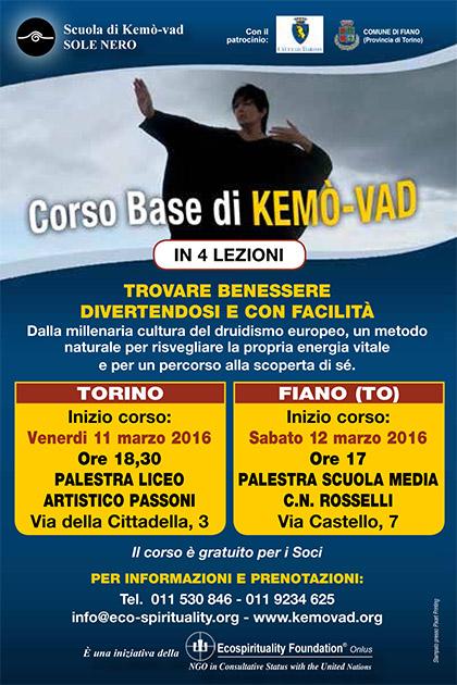 Corso di Base di Kemò-vad a Torino e Fiano dall'11 marzo 2016