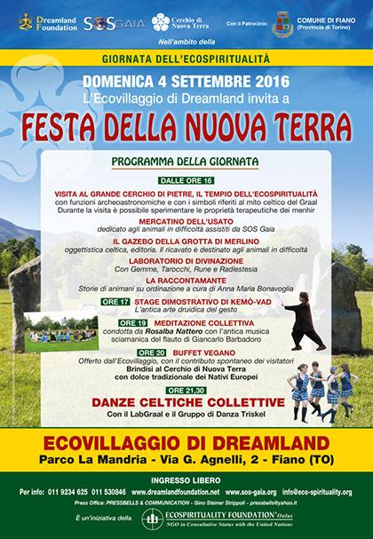 4 settembre 2016 - Ecovillaggio di Dreamland - Dimostrazione di Kemò-vad - Festa della Nuova Terra