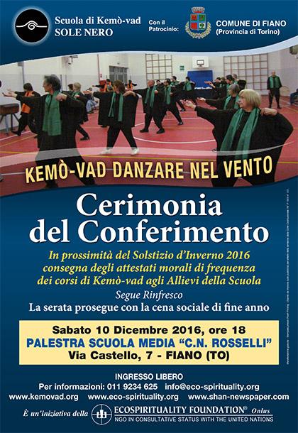 Kemò-vad Cerimonia del Conferimento 2016 - 10 dicembre 2016 alle ore 18