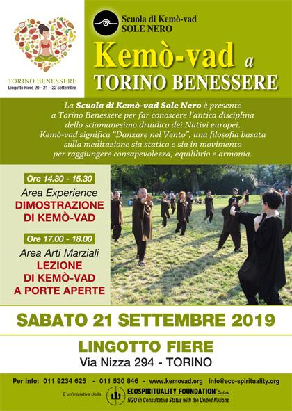 21 settembre 2019 - La Kemò-vad a Torino Benessere 2019