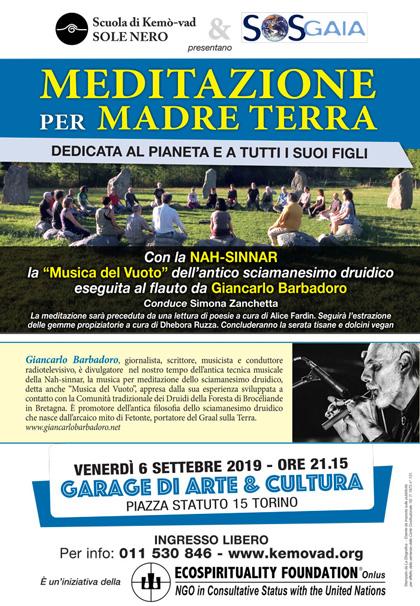 6 settembre 2019 ore 21.15 - Meditazione per Madre Terra a cura della Scuola di Kemò-vad Sole Nero