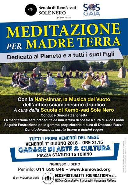 1° giugno 2018 ore 21.15 - Meditazione per Madre Terra a cura della Scuola di Kemò-vad Sole Nero