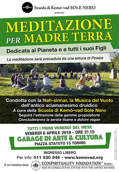 6 aprile 2018 ore 21.15 - Meditazione per Madre Terra a cura della Scuola di Kemò-vad Sole Nero