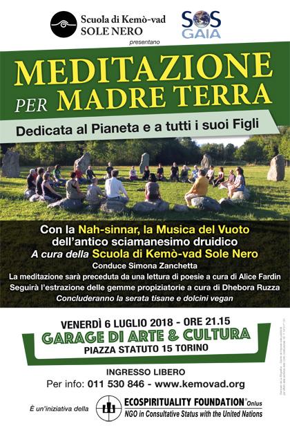 6 luglio 2018 ore 21.15 - Meditazione per Madre Terra a cura della Scuola di Kemò-vad Sole Nero